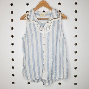 Anthropologie Maeve Striped Tank Blouse
